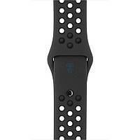 Оригинальный, силиконовый ремешок Apple, Nike Anthracite / Black Sport Band для часов Apple Watch 42мм (S/M и M/L) - антрацит / черный (MQ2T2)