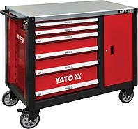 Тележка инструментальная на колесах с 6-ю ящиками Yato YT-09002