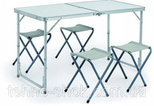Стол складной +4 стула для пикника туристический садовый, фото 1