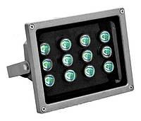 Прожектор светодиодный уличный серый (led прожектор серый) 12W 6400K 1100LM,Watc