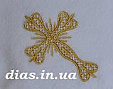 Махрова крижма із золотою вишивкою, фото 2