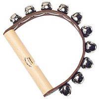 Тамбурин Rohema Leather Handbell 10 bells