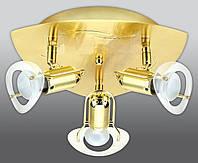 Спот направляемый светильник (спот светильник направленного света) золотой с матовым золотом E27 3*40w,Watc