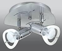 Спот направляемый светильник (спот светильник направленного света) хром с матовым хромом E27 2*40w,Watc