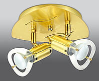 Спот направляемый светильник (спот светильник направленного света) золотой с матовым золотом E27 2*40w,Watc