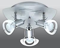 Спот направляемый светильник (спот светильник направленного света) хром с матовым хромом E27 3*40w,Watc