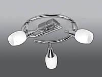 Спот направляемый светильник (спот светильник направленного света) белый с матовым хромом E27 3*40w,Watc