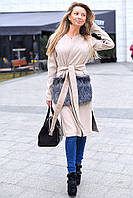 Женское суперстильное пальто с меховыми карманами