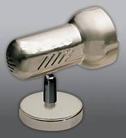 Спот направляемый светильник (спот светильник направленного света) хром матовый E27 100w,Watc