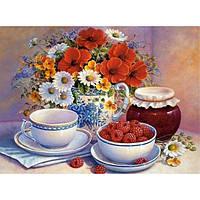 """Картина раскраска по номерам """"Приглашение на чай"""" набор для рисования по схеме"""
