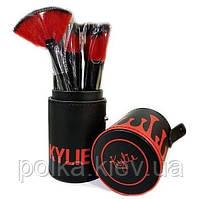 Кисти для макияжа Kylie Jenner набор 12 шт. черный
