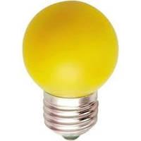 Лампа светодиодная для декоративного освещения LB-37 G45 230V 1W E27 желтая, Feron