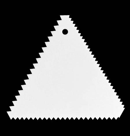Шпатель фигурный мелкий зубчик, фото 2
