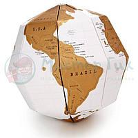 Скретч карта глобус