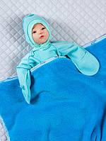 Детский пледик (велсофт) синий