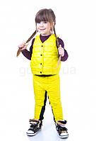 Детский жилет пуховый стёганый желтый JoJo