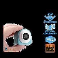 Wi-Fi мини камера G1 1920x1080 с пультом, мощным аккумулятором и углом обзора 120°