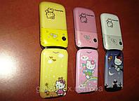 Hello Kitty W 999 раскладной телефончик для модницы (Dual sim, 2 симки, хелло китти)