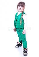 Детский жилет пуховый стёганый зеленый JoJo
