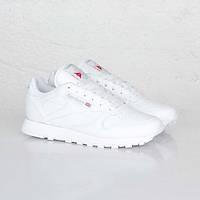 Кросівки чоловічі Reebok ClassicLeather White (у стилі рібок) білі