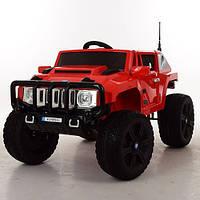 Детский электромобиль джип Hummer M 3570 EBLR-3, мягкие колеса и кожаное сиденье
