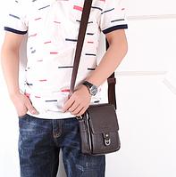 Мужская кожаная сумка. Модель 61253, фото 7