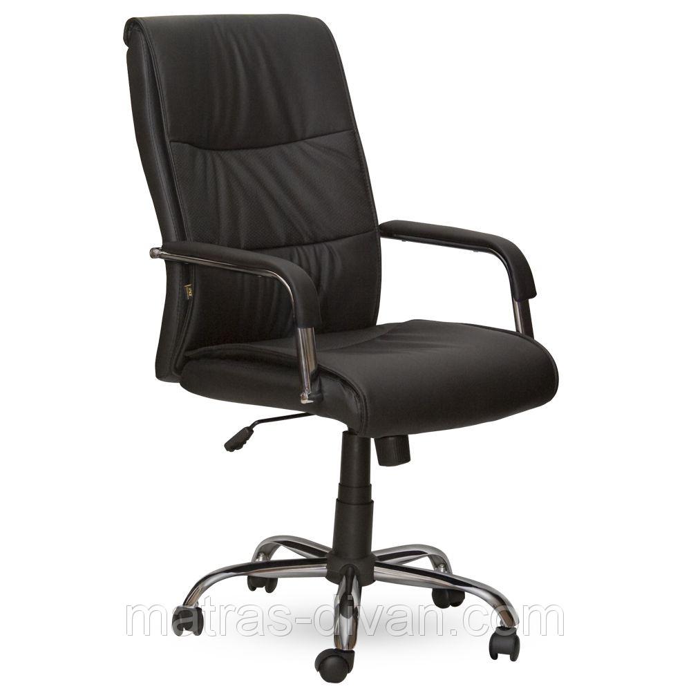 Кресло Рио HB кожзам черный (Model-107HB Pu+Pvc Black).