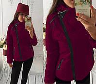 """Куртка демисезонная женская """"Ариэла""""  Распродажа бордовый, 42"""