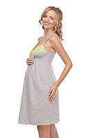 Ночная рубашка для беременных и кормящих мам с мягкого трикотажа