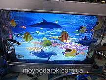 Світильник акваріум, 20х17 світлодіодний, підсвічування, нічник, з рибками