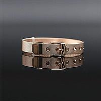 Женский браслет из ювелирной стали ремешок с позолотой