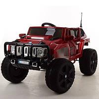 Детский электромобиль джип Hummer M 3570 EBLRS-3, мягкие колеса, автопокраска и кожаное сиденье