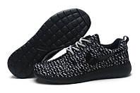 Кроссовки женские беговые Nike Free Flyknit Turtle Black (в стиле найк) черные