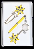 """Набор подарочный """"star"""": ручка шариковая + брелок + закладка, желтый ls.132000-08"""