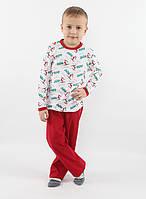 Детская хлопковая пижама для мальчика РВ 014, рр. 104-128, ВОЛ (Cornett)