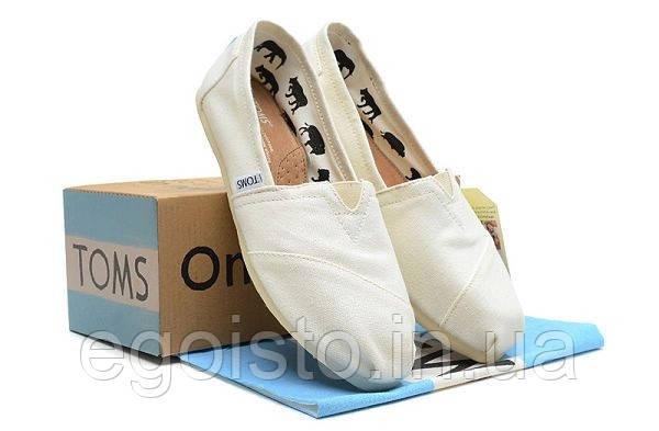 7cbf014d5ad1 Мужские Слипоны Эспадрильи TOMS Classic White — в Категории ...