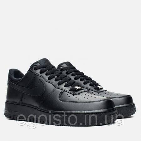 Кроссовки мужские Nike Air Force Low (найк форс) черные  продажа ... 6055cd8587e