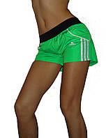"""Спортивные шорты женские """"Adidas"""". Распродажа модели салатовый, 42"""
