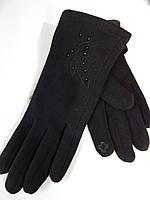 Сенсорные женские перчатки трикотаж/флис оптом 10 пар