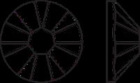 Клеевые стразы 2058 XILION Rose [SS5-SS10]