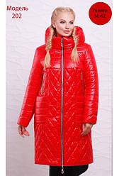 Пальто женское зимнее полуприлегающего силуэта из водоотталкивающей плащевой ткани Разные цвета