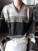 Мужской турецкий шерстяной джемпер