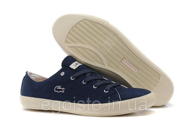 Мокасины мужские Lacoste Seed Casual Blue Canvas (лакост) синие -  Интернет-магазин брендовой 149ee37f080