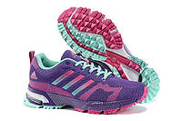 Кроссовки женские беговые Adidas Marathon (в стиле адидас)фиолетовые, фото 1