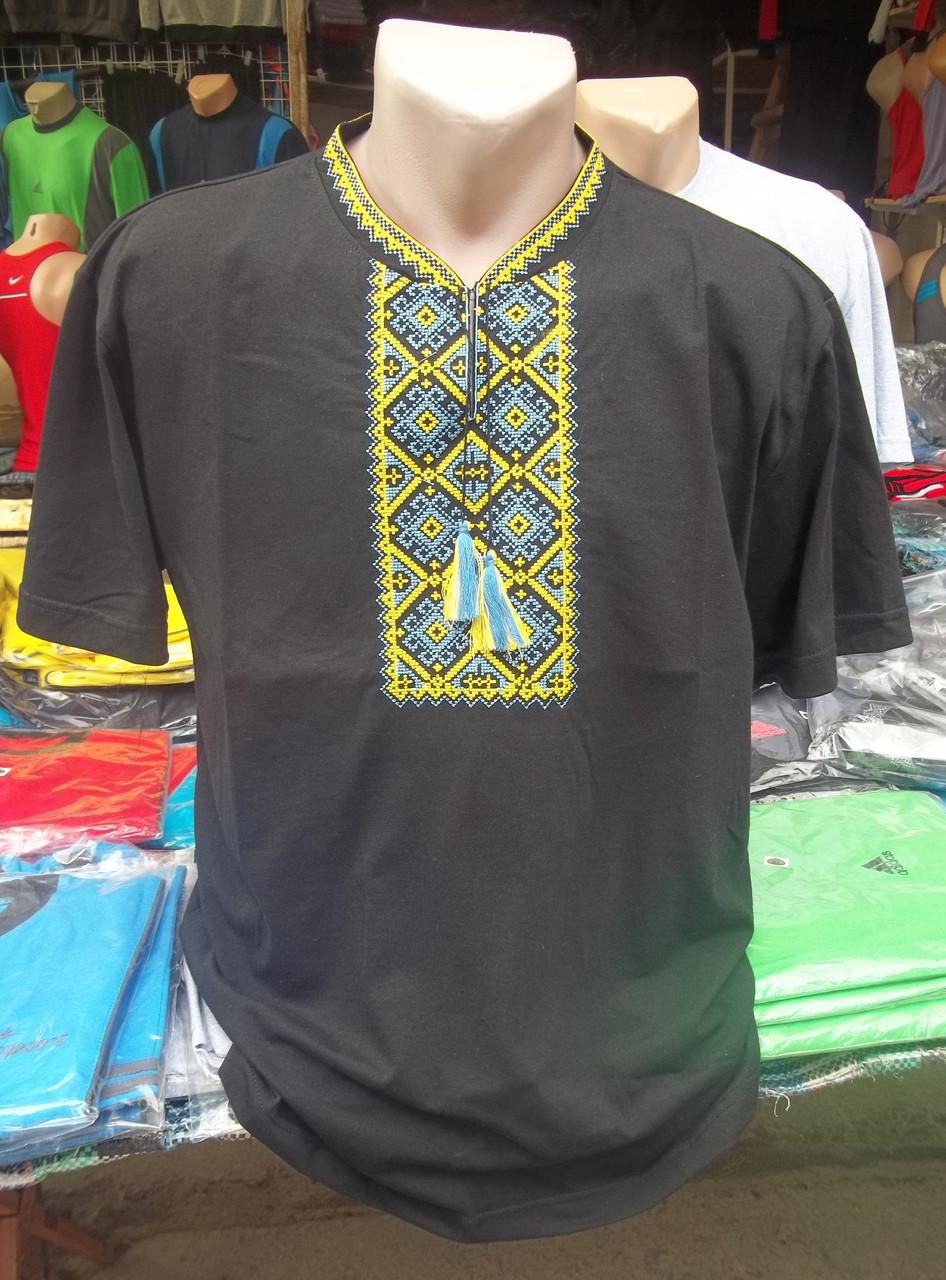 "Рубашка мужская вышитая "" Черная-2"""
