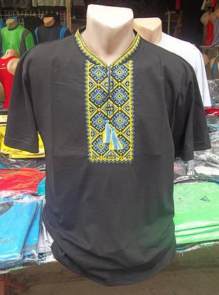 """Рубашка мужская вышитая """" Черная-2"""", фото 2"""