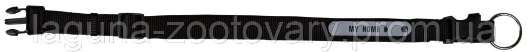 Ошейник с адресным блоком 35 - 40м/20мм для собак, нейлон, черный