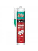 Герметик термостойкий akfix силиконовый RTV красный до 300с