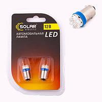 Лампа диодная 12v 4 wt T8.5 цоколь. большая 7 - диод. синяя SOLAR LF144 2 шт.