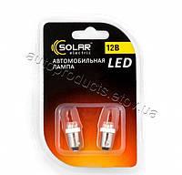 Лампа диодная 12v 4 wt T8.5 цоколь. большая 7 - диод. белая SOLAR LF143 2 шт.